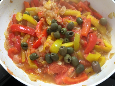 Long Fusilli with Olives Peppers and Vegetables 16