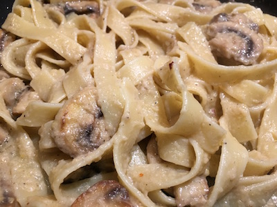 fettucine mushroom and artichokes cream 12