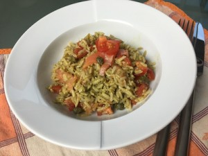 Rice salad with salmon pesto and capers 05