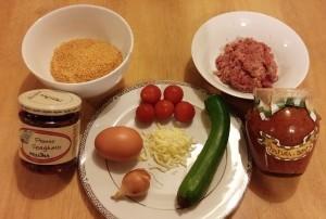 Saucy Spicy Meatballs-Ingredients