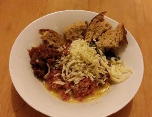 Saucy Spicy Meatballs-Mixture