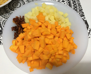 Pasta_squash_beans_sundriedtomatoes_taste_with_gusto_potatoes_and_squash