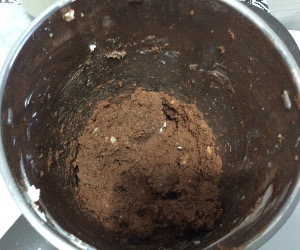 No_cooking_ chocolate_ Christmas_log_blended
