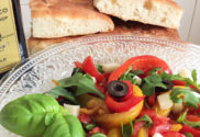 feat_bf_5_Roasted_peppers_salad_with_rocket_balsamic_vinegar