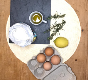 Lemon_rosemary_and_olive_oil_loaf_cake_ingredients