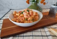 tortellini with pink sauce